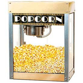 BenchMark USA 11068 Premier Popcorn Machine 6 oz Gold/Silver 120V 1130W