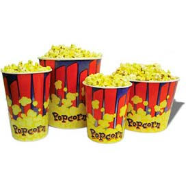 BenchMark USA 41430 Popcorn Buckets 130 oz 50/Tubs