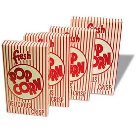 BenchMark USA 41557 Closed Top Popcorn Boxes 0.95 oz 100/Boxes
