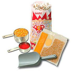 BenchMark USA 45004 Popcorn Popper Starter Kit 4 Oz. Poppers