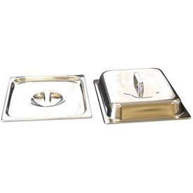 "Benchmark USA-56746, Half Size Lids, Stainless Steel, 10-1/4x12-1/2x1"""