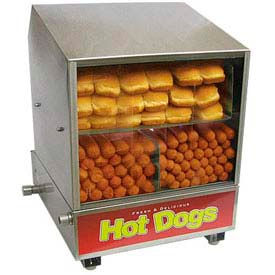 Benchmark USA 60048, Dog Pound Hotdog Steamer/Merchandiser, 164 Hot Dogs/36 Buns 120V
