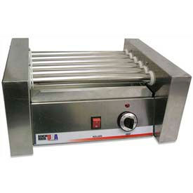 Benchmark USA 62010, Hot Dog Roller Grills, Stainless Steel, 10 Hot Dogs, 120 Volt