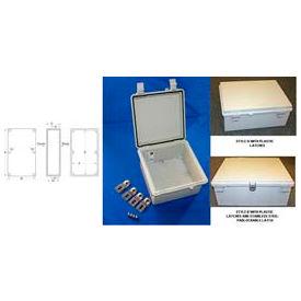 """Bud NBF-32326 UL/NEMA/IEC NBF Series Style A OutDoor Bx W/ Solid Door 15.74"""" L x 11.81"""" D x 6.29"""" H"""