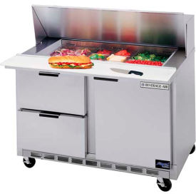 "Boisson Air® SPED48HC-12 M-4 alimentaire Prep Tables Sped48 série élite Mega Top W / tiroirs, 48"" W"