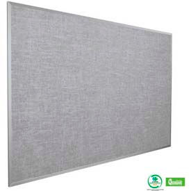 "Balt® Vin-Tak Tackboard with Aluminum Trim 48""W x 36""H, Gray"
