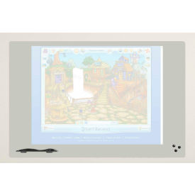 """Balt® Self Adhesive Projection Dry Erase Surface, 72""""W x 48""""H - Elemental Series"""