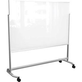 "Balt® Visionary Move Mobile Magnetic Glassboard, 72""W x 48""H"