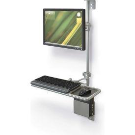 Balt® Wallmount Workstation - Single Monitor
