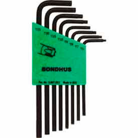 Bondhus 31832 Set 8 Star L-wrenches - Long Arm Style - T6-T25