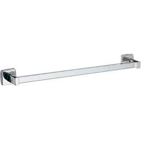 "Bobrick® Surface Mounted Square Towel Bar - 18"" Bright Polished - B673x18"