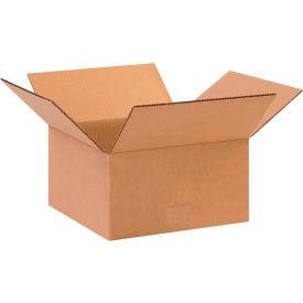 "Flat Cardboard Corrugated Boxes 10"" x 10"" x 5"" 200#/ECT-32 - Pkg Qty 25"
