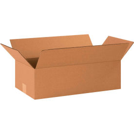 "Long Cardboard Corrugated Boxes 20"" x 10"" x 6"" 200#/ECT-32 - Pkg Qty 25"