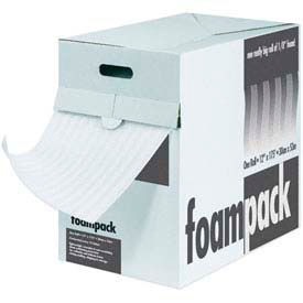 "Air Foam Dispenser Packs 12""W x 350'L, 1/16"" Thickness, White, 1 Roll Pack"