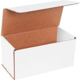 """Corrugated Mailers 10"""" x 5"""" x 5"""" 200#/ECT-32 White - Pkg Qty 50"""