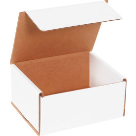 """Corrugated Mailers 6"""" x 5"""" x 3"""" 200#/ECT-32 White - Pkg Qty 50"""