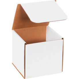 """Corrugated Mailers 6"""" x 6"""" x 6"""" 200#/ECT-32 White - Pkg Qty 50"""