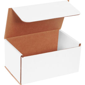 """Corrugated Mailers 8"""" x 5"""" x 4"""" 200#/ECT-32 White - Pkg Qty 50"""