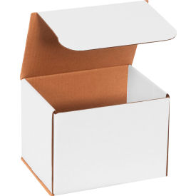 """Corrugated Mailers 8"""" x 6"""" x 6"""" 200#/ECT-32 White - Pkg Qty 50"""