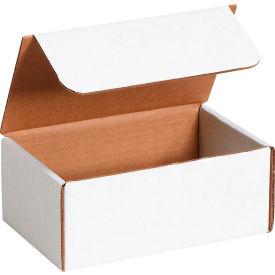 "Corrugated Literature Mailers 7-1/8"" x 4-1/2"" x 3"" 200#/ECT-32 White - Pkg Qty 50"