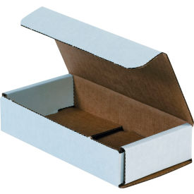 """Corrugated Mailers 6-1/2"""" x 3-1/4"""" x 1-1/4"""" 200#/ECT-32 White - Pkg Qty 50"""