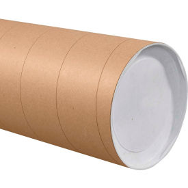 50 Quantity End Caps Sold Separately Brown Cardboard Mailing Tubes 2 X 12-0.060 Thick