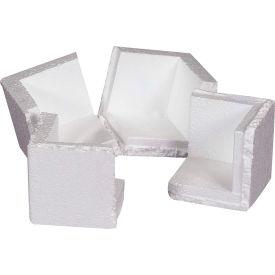 """Foam Corners 3-3/4"""" x 3-3/4"""" x 3-3/4"""" White, 400/Case"""
