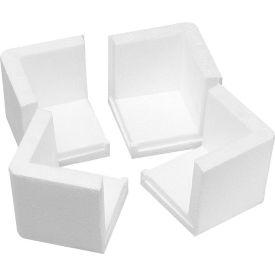 """Foam Corners 3"""" x 3"""" x 3"""" White, 1000/Case"""