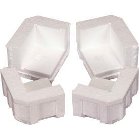 """Foam Corners 4-7/8"""" x 4"""" x 3-1/4"""" White, 320/Case"""