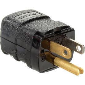 Bryant 5966VBK Valise Straight Blade Plug, 15A, 125V, Black