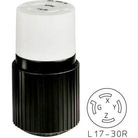 Bryant 71730NP TECHSPEC® Plug, L17-30, 30A, 3ph 600V AC, Black/White