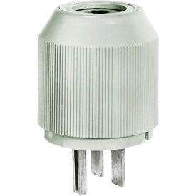 Bryant 9630NP Straight Blade Plug, 30A, 250V, Gray