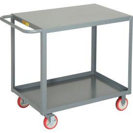 Little Giant® All Welded Service Cart LG-2436-BRK, 2 Shelves Flush Top, 24 x 36