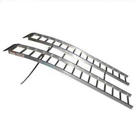 Aluminum Atv Ramps >> Revarc 90 L Arched Tri Fold Aluminum Atv Ramps Revarc90 With Strap 1300 Lb Cap