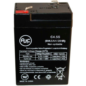 AJC® General Electric 00648 6V 4.5Ah Emergency Light Battery
