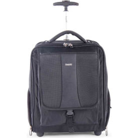 "Bugatti BKPW2620 Ballistic Nylon Backpack, 15.6"" Computer Case w/ Wheels, Black"