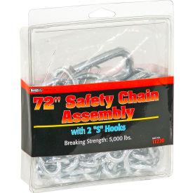 Safety Chain 9/32 X 72 W 7/16 Heat Treated S Hooks - Min Qty 5