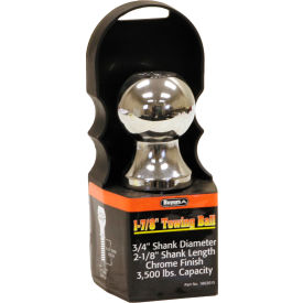 "Towing Ball - 1-7/8"" Dia. X 2-1/8"" Shank - 3,500 Lb. Cap. Chrome - Min Qty 5"