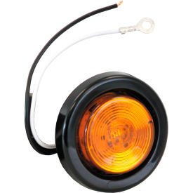 "2"" Round 1 Led Amber Marker Light W/ Grommet & Plug - Min Qty 6"