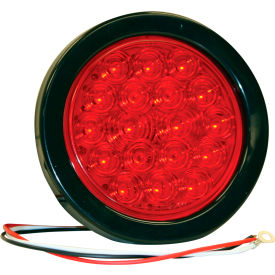 "4"" Round 18 Led Red Stop-Turn Tail Light W/ Grommet & Plug - Min Qty 4"