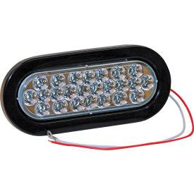 "6-1/2"" Oval 24 LED Clear Backup Light w/ Grommet & Plug - 5626324"