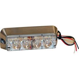 """4-7/8"""" Rectangular 4 LED Clear Strobe Light - 8891006"""