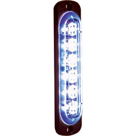 Buyers LED Rectangular Blue Low Profile Strobe Light 12V - 6 LEDs - 8891914