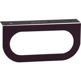Single Oval Black Powder Coated Carbon Steel Light Bracket - Min Qty 12