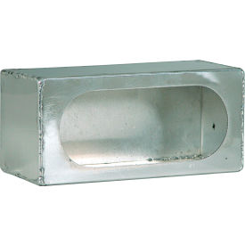 Single Oval Smooth Aluminum Light Cabinet - Min Qty 2