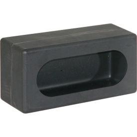 Single Oval Black Poly Light Cabinet - Min Qty 2