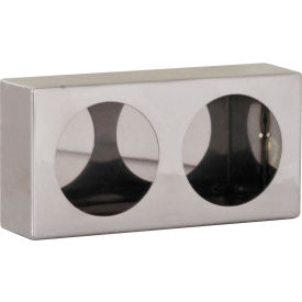 Dual Round Stainless Steel Light Cabinet - LB6123SST