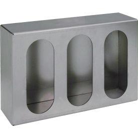 Triple Oval Primed Gray Steel Vertical Light Box - LB8133