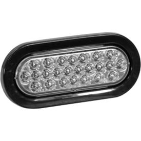 "6-1/2"" Oval Recessed Clear Strobe Light - SL65CO"