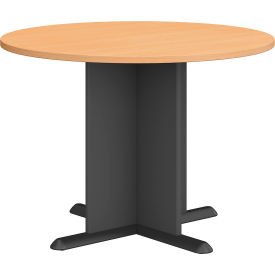 "Bush Business Furniture Series A &amp C 42"" Round Conference Table - Beech"